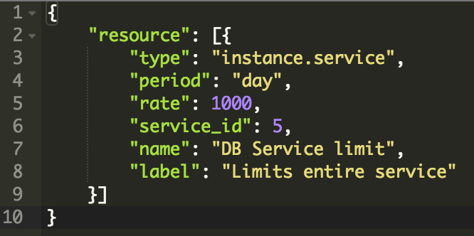DB Service Limit Example