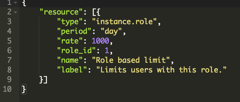 Role Limit Example